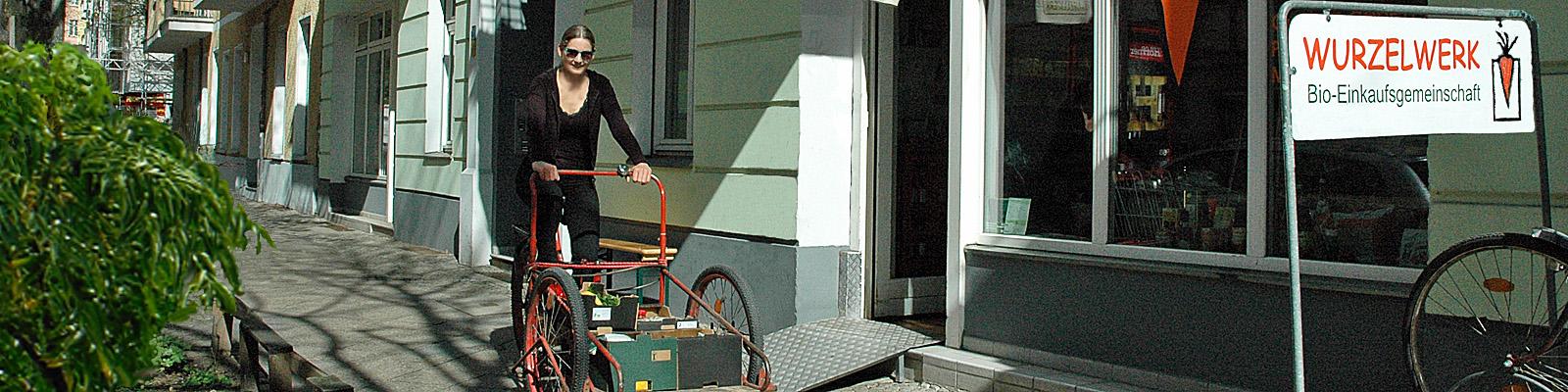 Wurzelwerk Lieferservice per Lastenfahrrad